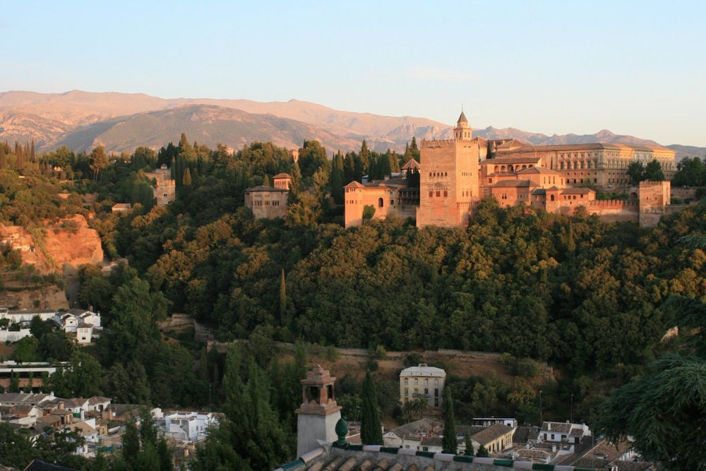 Granada's Alhambra palace is about an hour's drive from Villa Amapola.