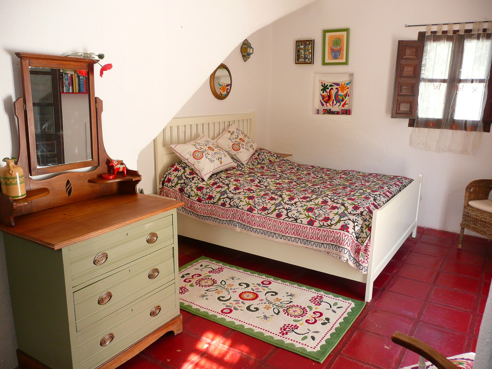 Double bedroom with king size bed at our traditional Spanish holiday villa.