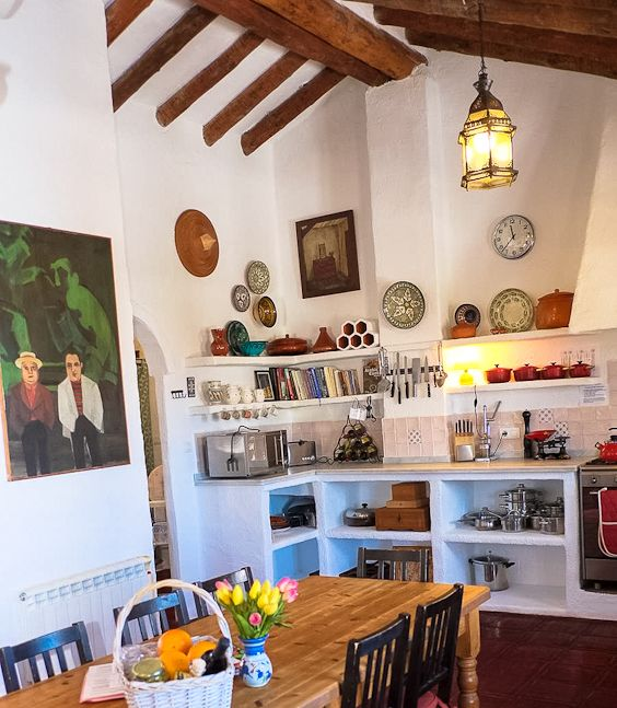 Self catering holidays with a difference at our wonderfully equipped huge farmhouse kitchen dining room.