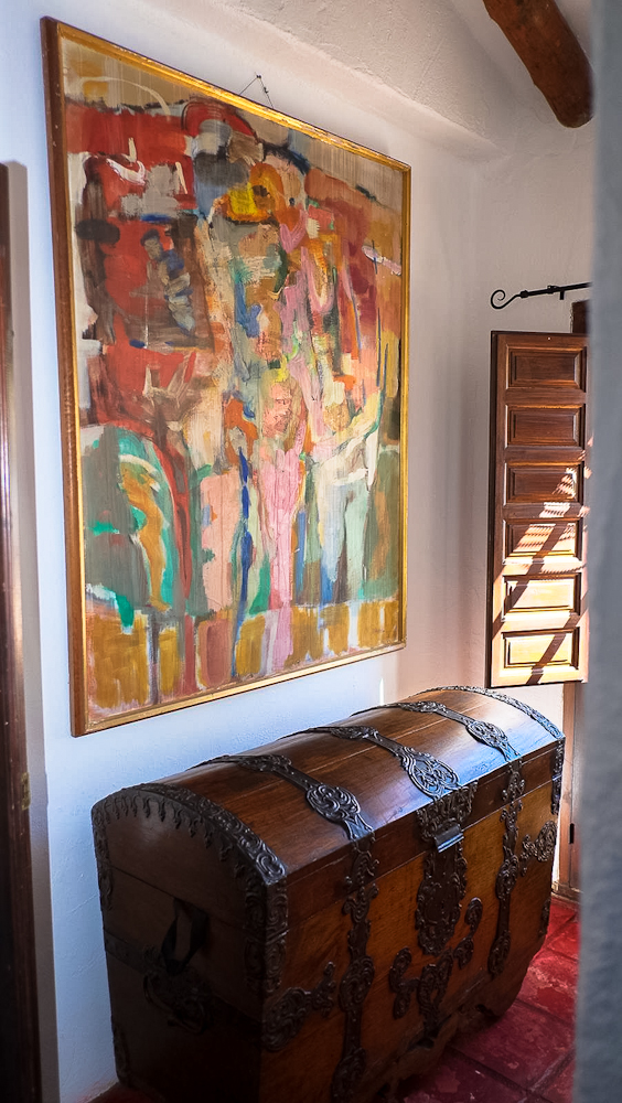 Original art and antiques : a blend of comfort and unique style at Villa Amapola.