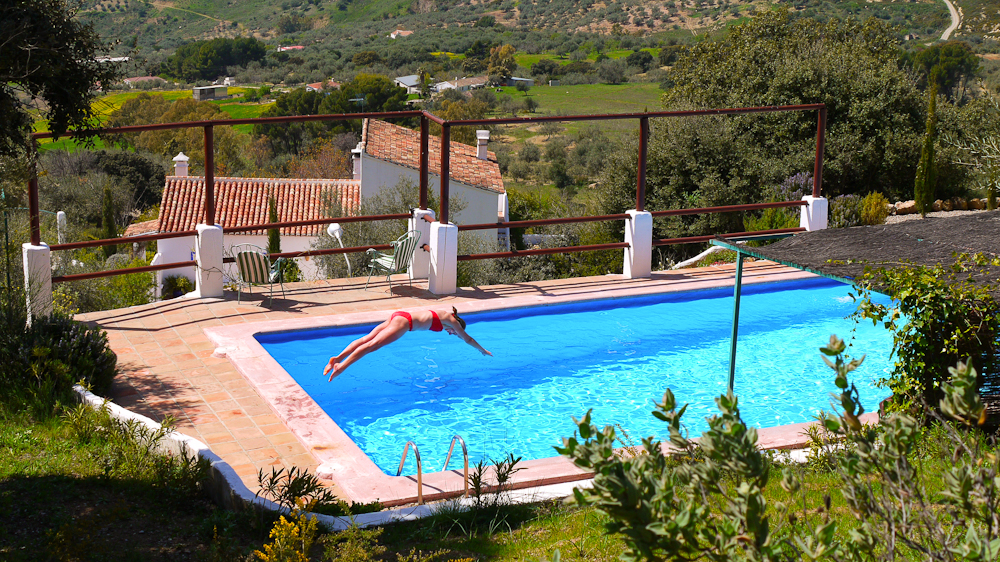 The beautiful country location is what makes the pool at Villa Amapola so special.