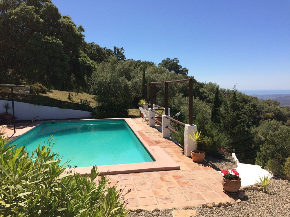 Views of the Mediterranean from our secluded private pool