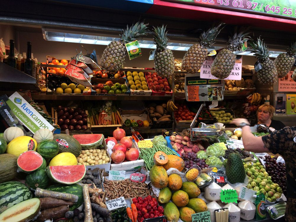 A cornucopia of exotic fruit and vegetables