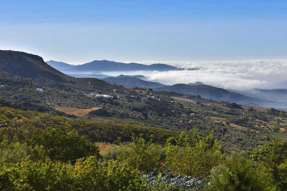 Stunning panoramic views of the unspoilt countryside of the Axarquia