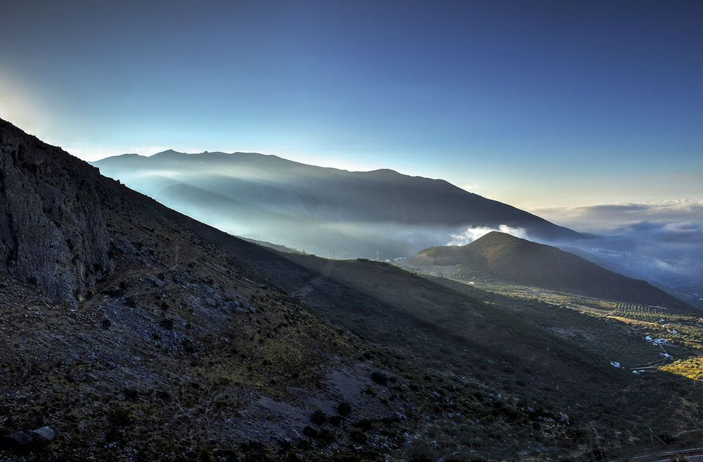 Magical mystical landscape of the Axarquia