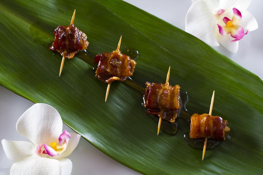 APPETIZERS:  Jason's Catering Caribbean Rumaki