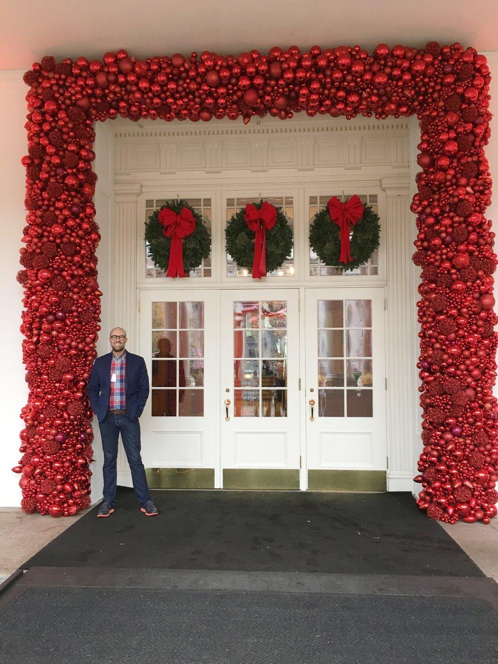 East Entrance, White House, Holiday 2016