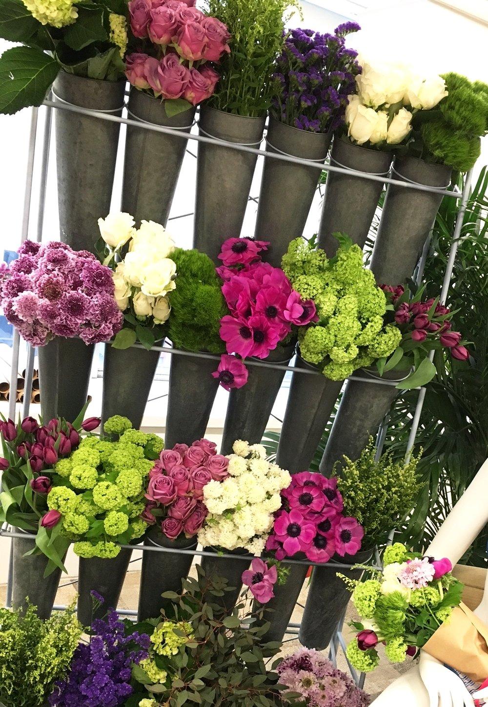 DIY Flower station for Hanes