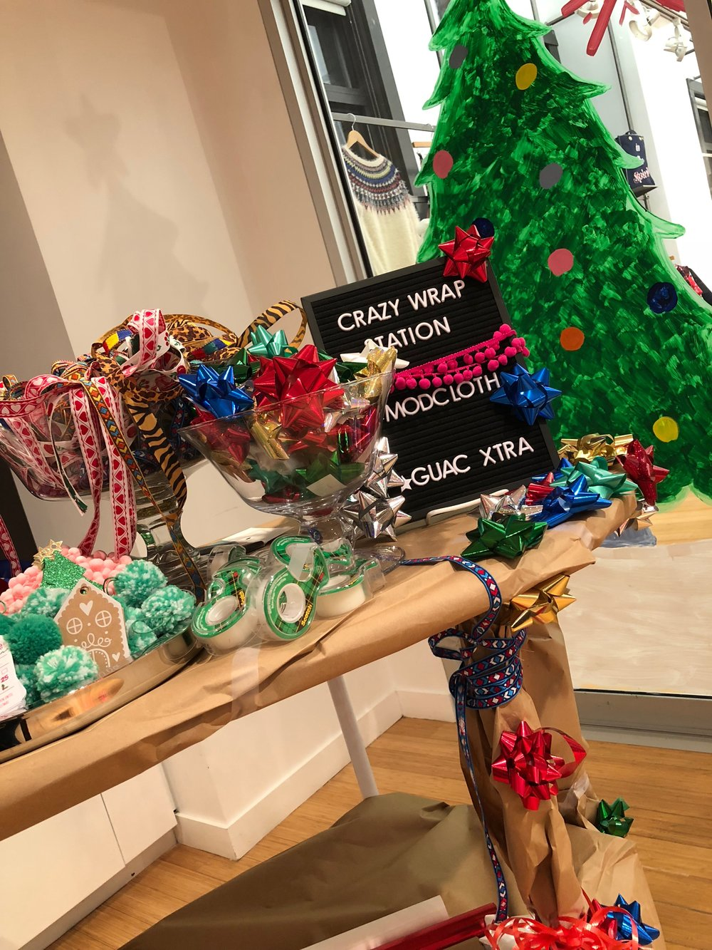 ModCloth Press Event - Ugly Wrapping Station