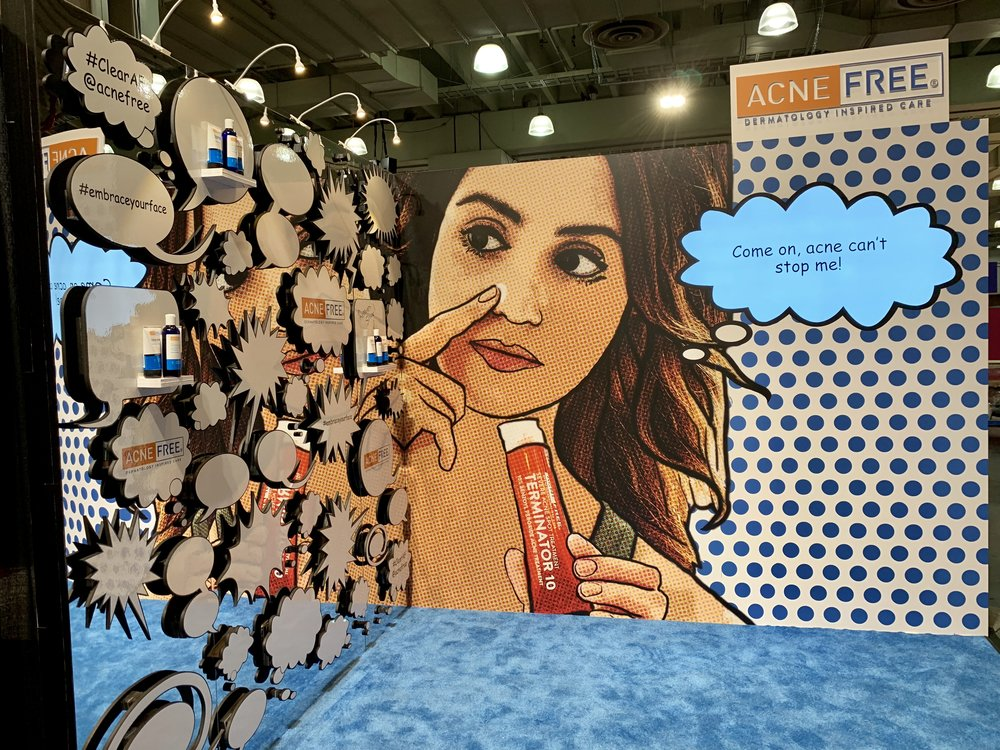 Acne Free Booth at GenBeauty