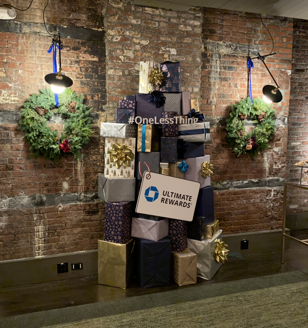 Chase Holiday Event hosted by Chrissy Tegan