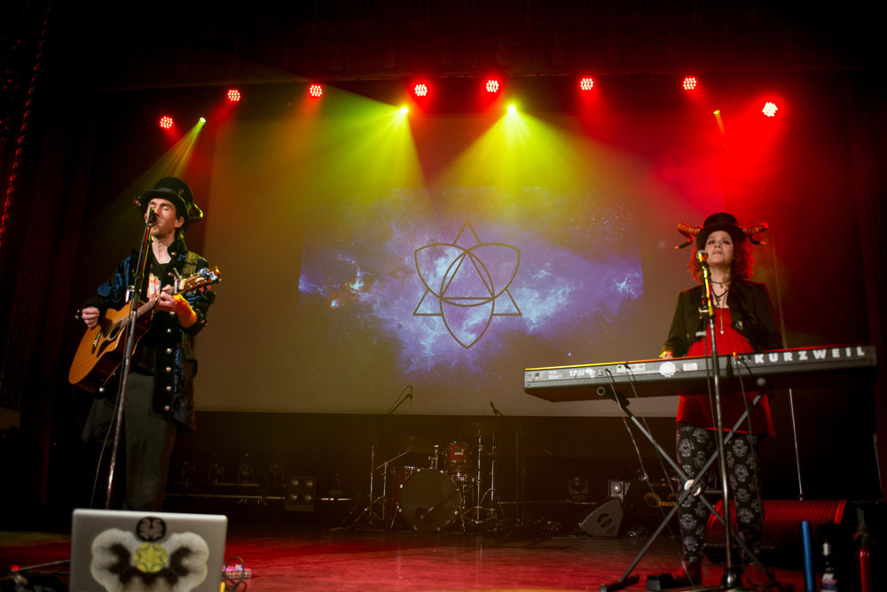 William Moon and Christina Enigma of Ky∆zMa (live at the RAW showcase at the Rialto Theater in Montreal, Quebec)