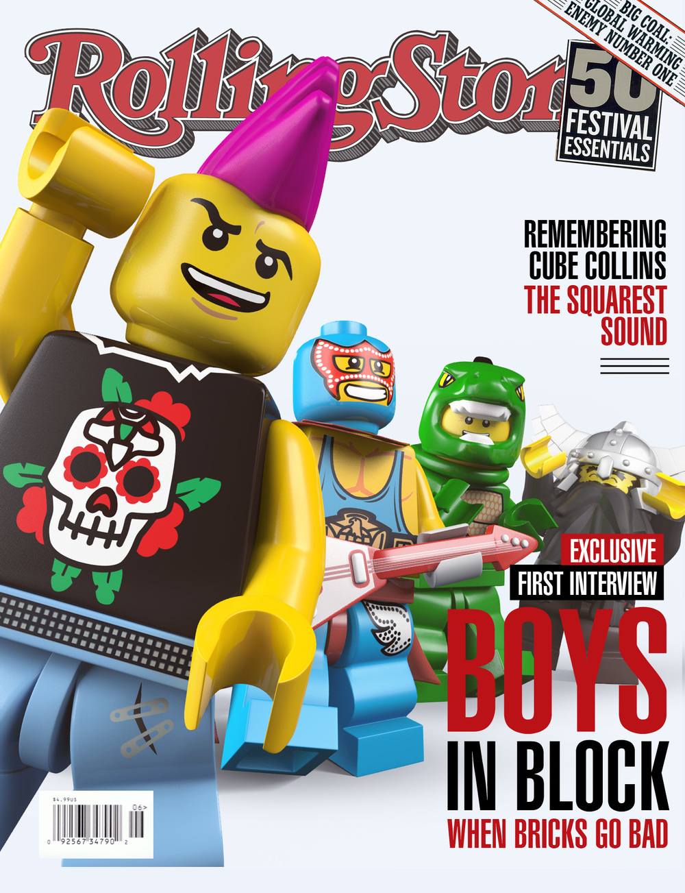 print lego peppermelon the bricks went bad boys in block invited us to produce their magazine covers and we knew exactly how to bring the rock out of them