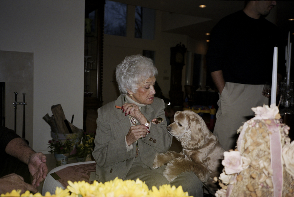 Grandma and Bailey, Chappaqua 2001