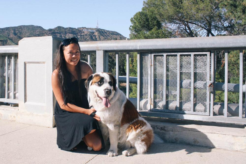 Diane Nguyen and her gorgeous dog Giada