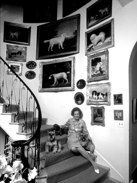 Brooke Astor in her home