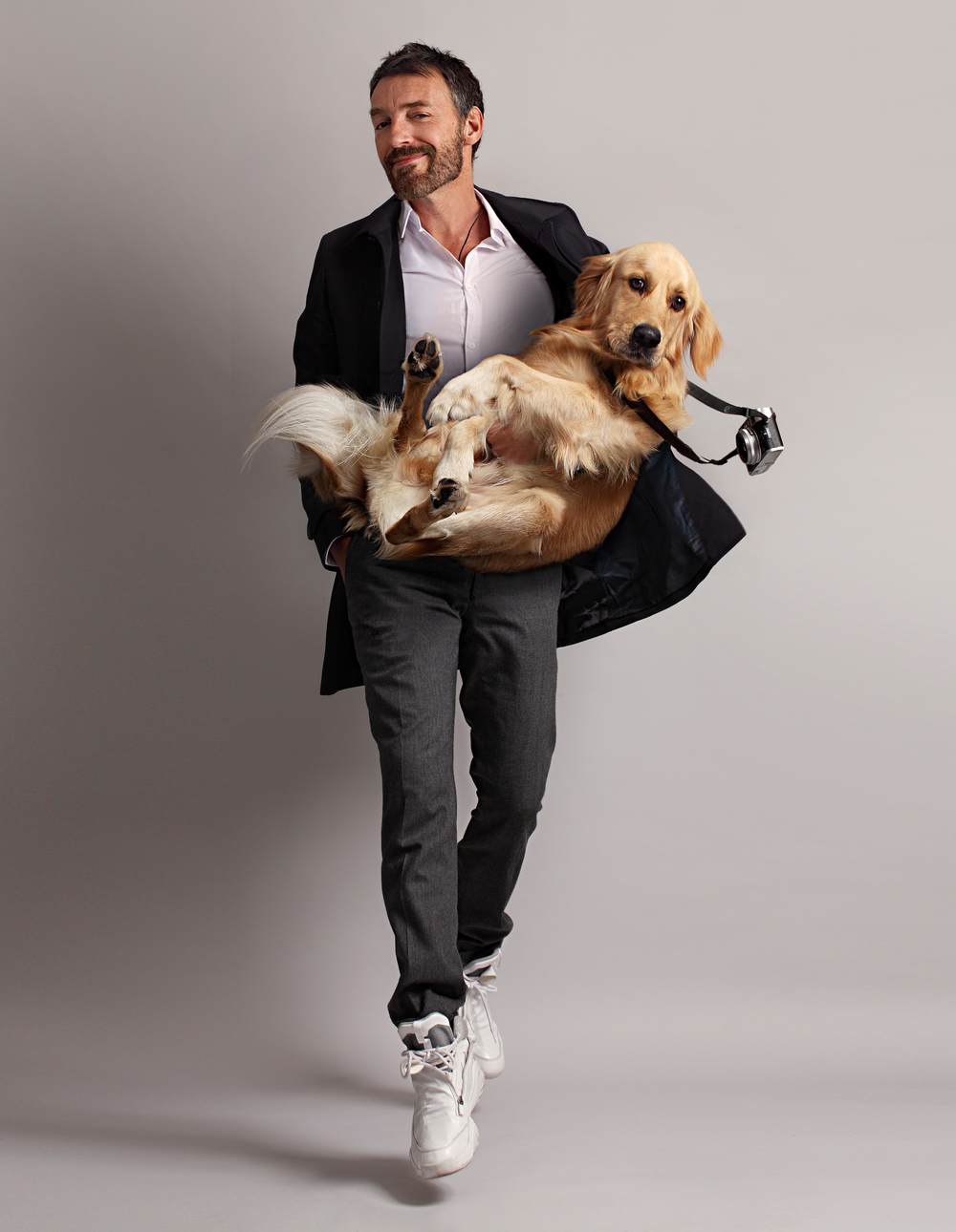 Vincent Flouret   and his dog Max