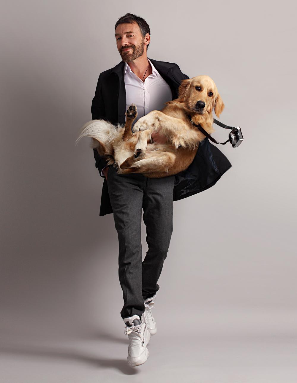 Vincent Flouret   and his dog Max