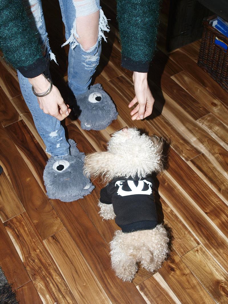 Max sporting a  BEAN GOODS  hoodie