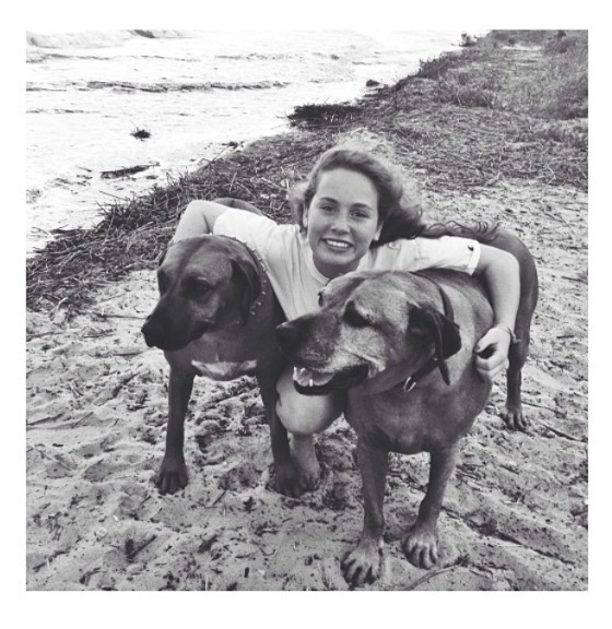 The author and her two dogs