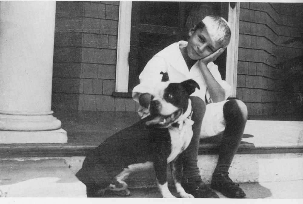 OK, is this not the cutest kid you have ever seen?  Ted and his Boston bulldog named Rex, 1914.