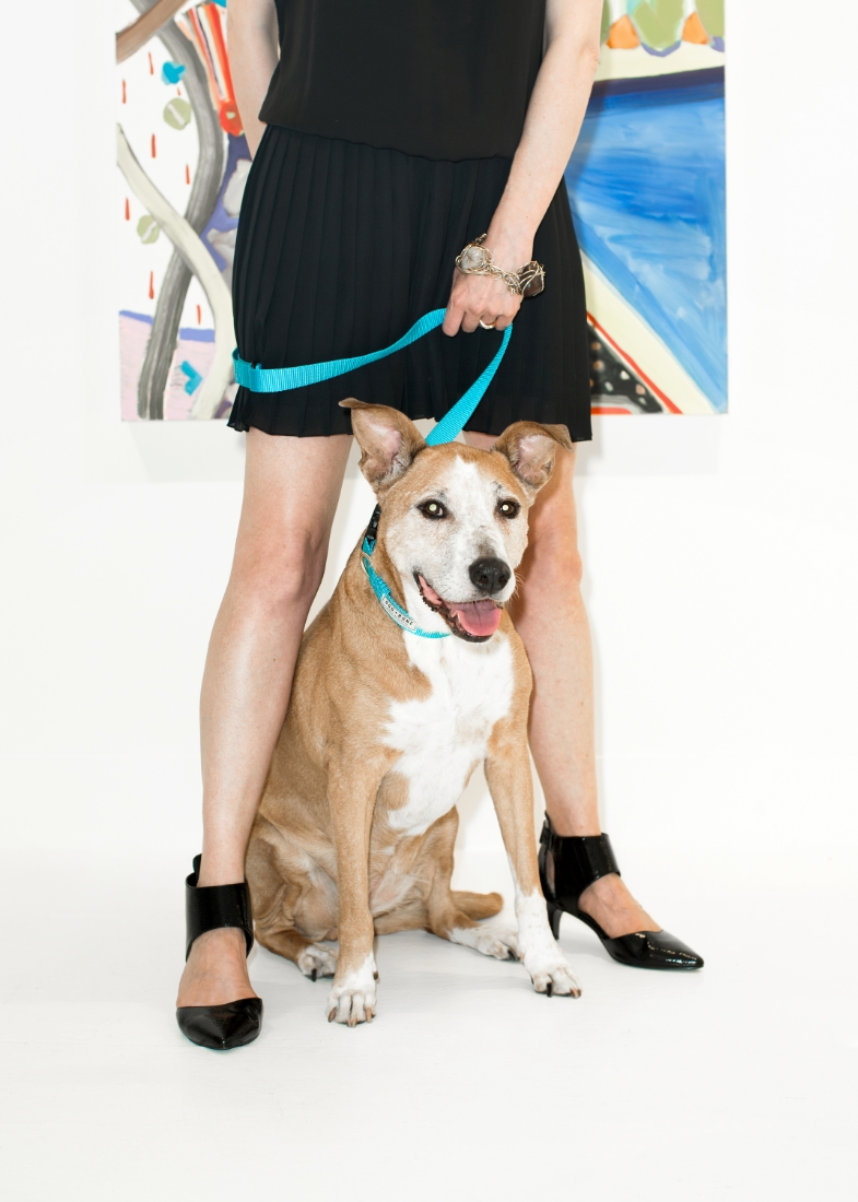 Lucie from TURN GALLERY in a Dog + Bone leash ART:Kimia Ferdowsi Kline