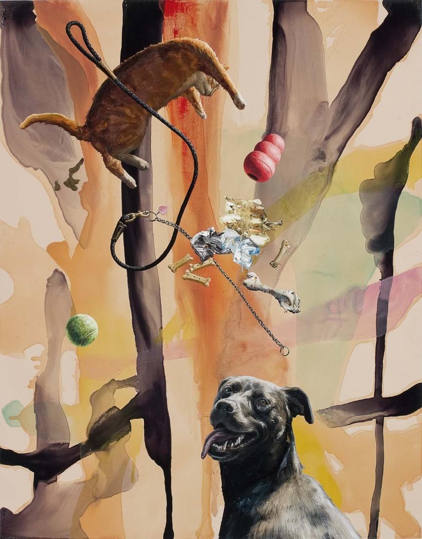Reverie, 2006, oil on wood panel, 56 x 44 in.