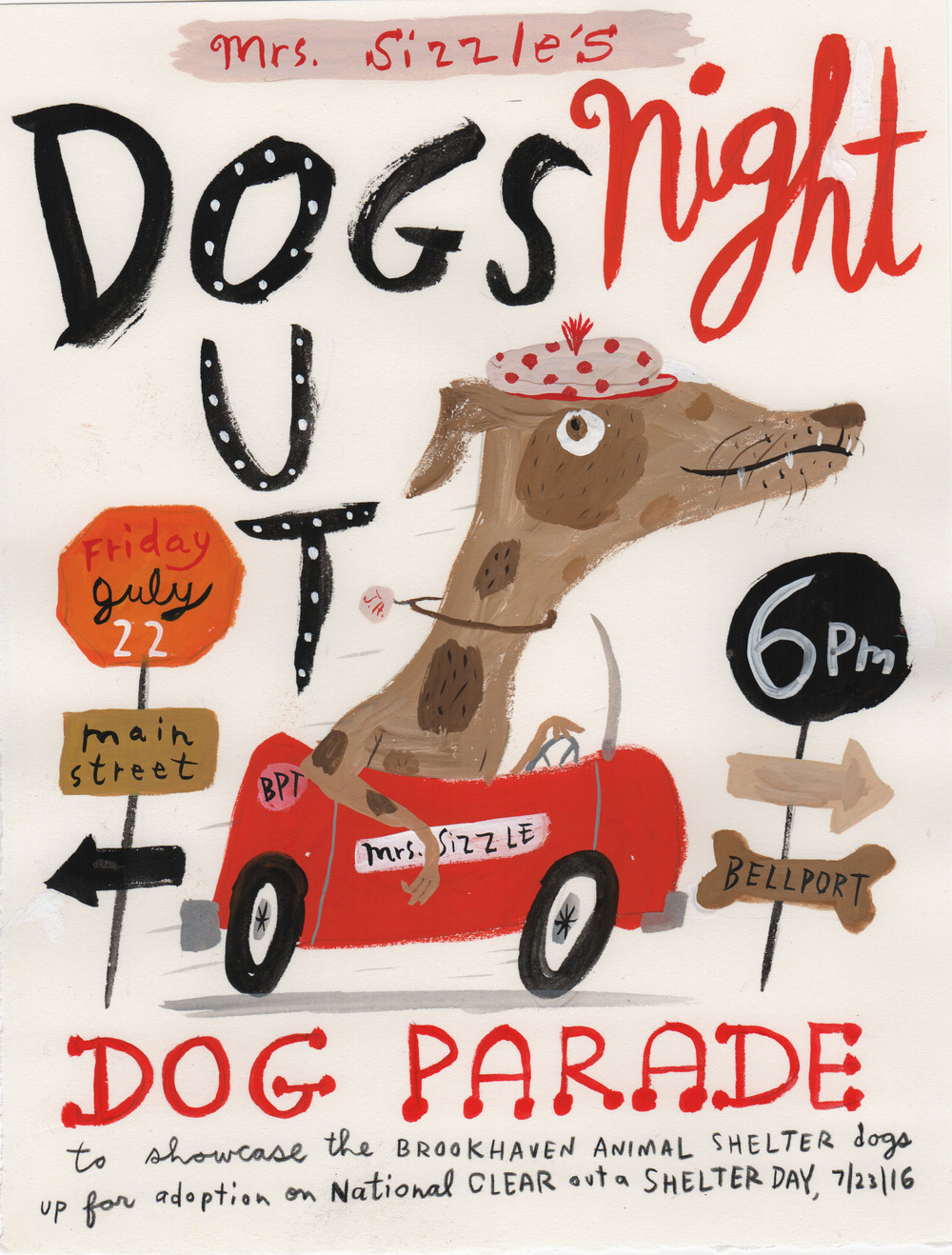 Poster for the parade by Jessie Hartland