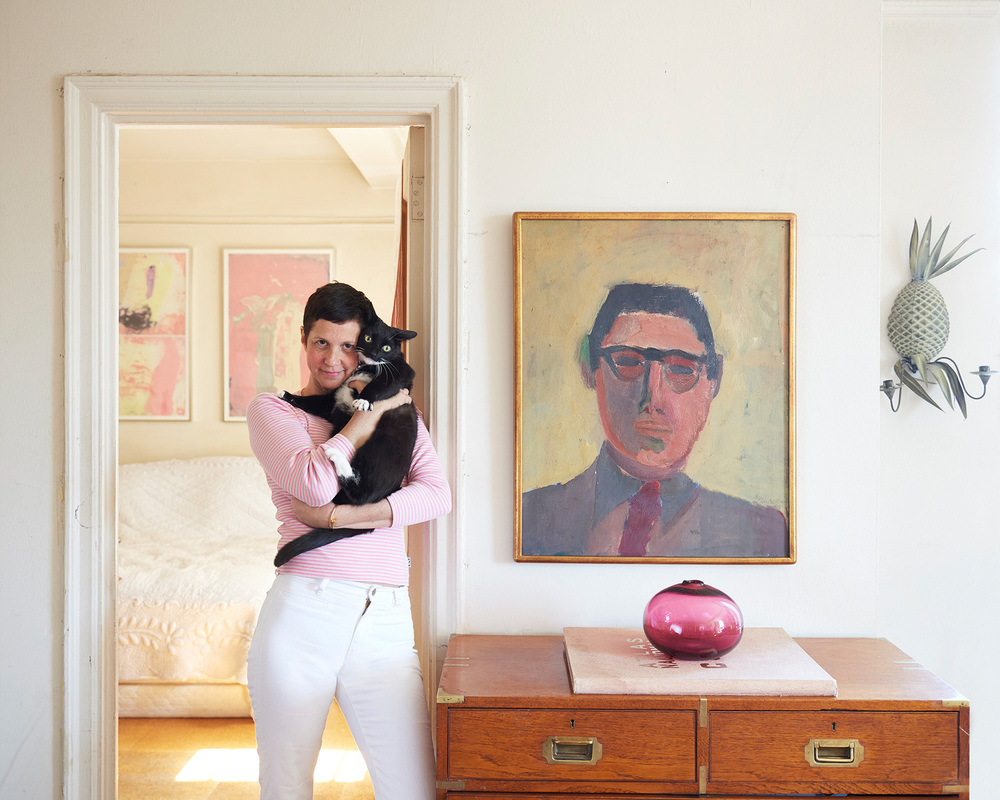 Maggie, her Dad and her cat Napoleon