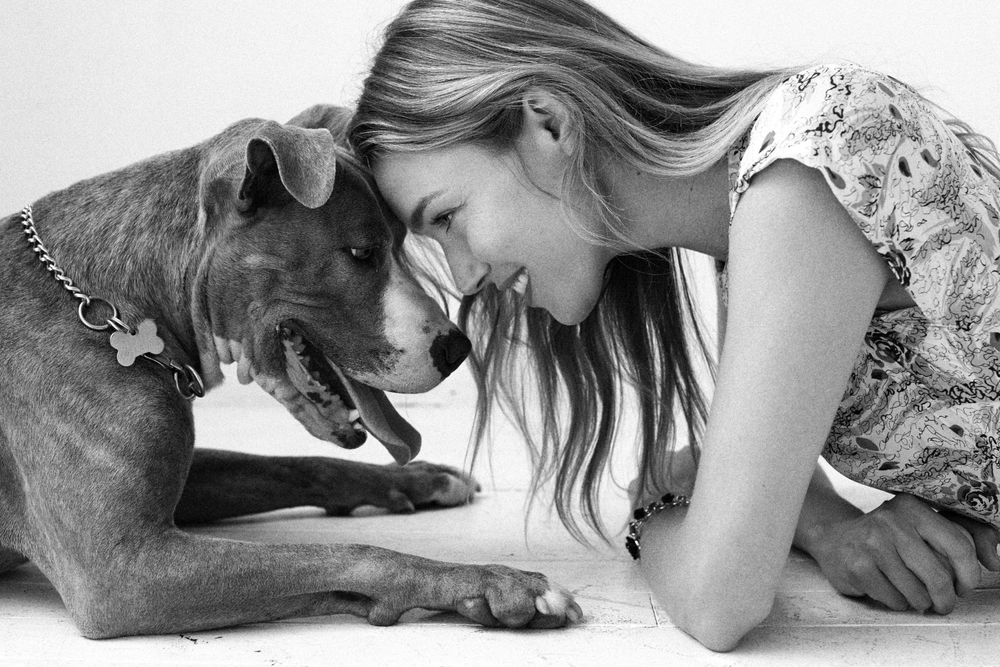 Hollie Witchey from Marilyn and her rescue Pitbull Rocco from BARK Brooklyn