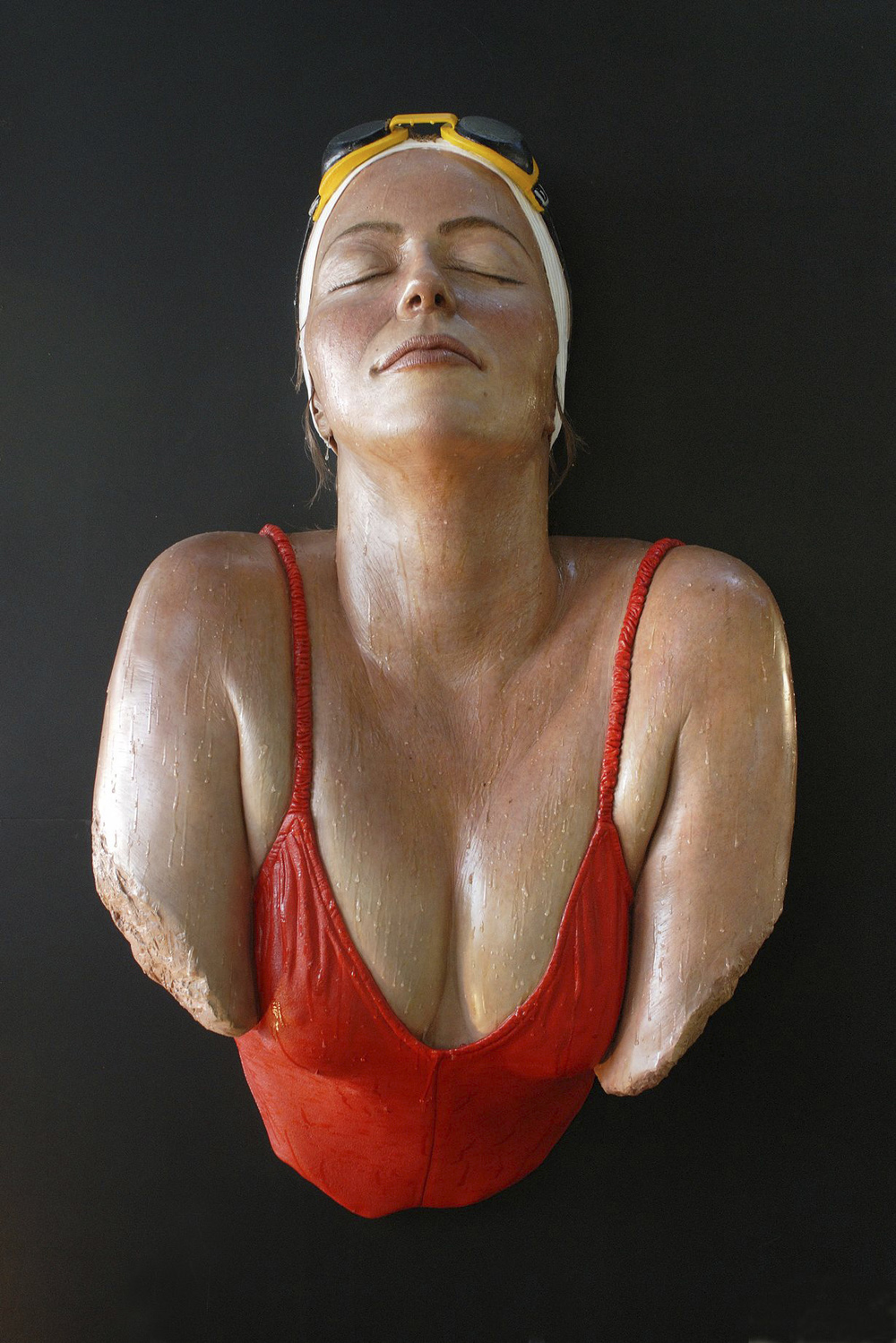 Catalina, 1981, Resin and Oil, 32 x 15 x 7 inches