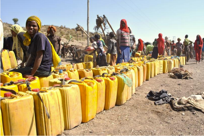 Villagers bring their jerry cans to a well in Corbetti, Ethiopia, where water is scarce.PHOTO: JACEY FORTIN, INTERNATIONAL BUSINESS TIMES