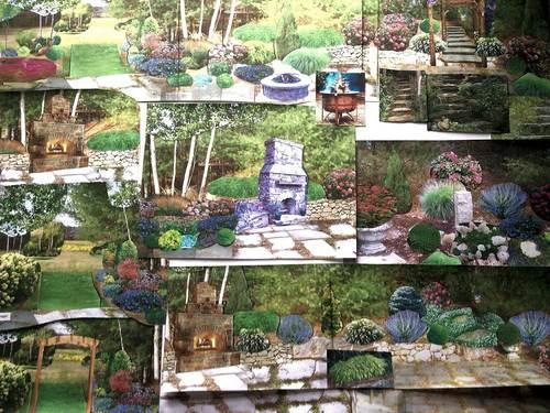 Example of design presentation board. - Landscape Design Service — Garden Designs By Kristen