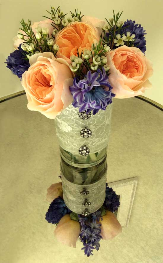 Jewel-toned floral arrangement