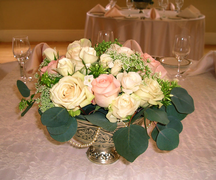 Vintage wedding centerpiece