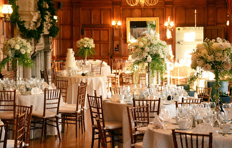 Elegant wedding reception floral arrangements & centerpieces