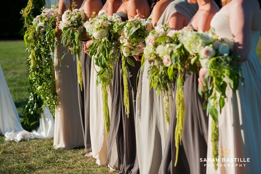 Cascading Bridesmaids Bouquets