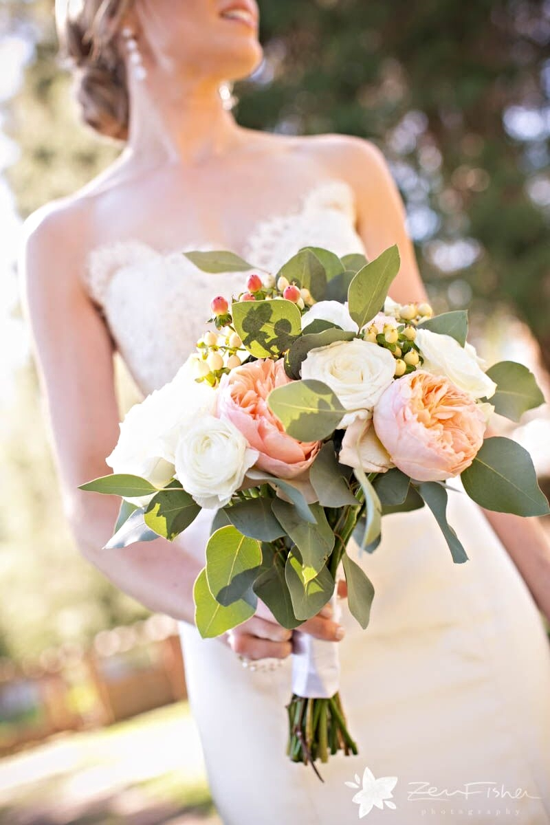 22 peach peony garden rose bouquet blushing bridal bouquet - Blush Garden Rose Bouquet