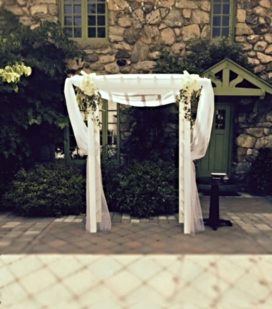 Outside ceremony arbor at Willowdale Estate