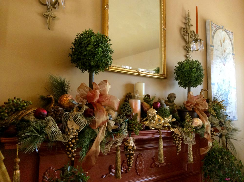 Warm & Festive Winter Holiday Mantel