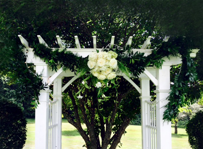 Wedding Arbor with Gardland