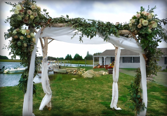 Chuppah décor at the Essex Room