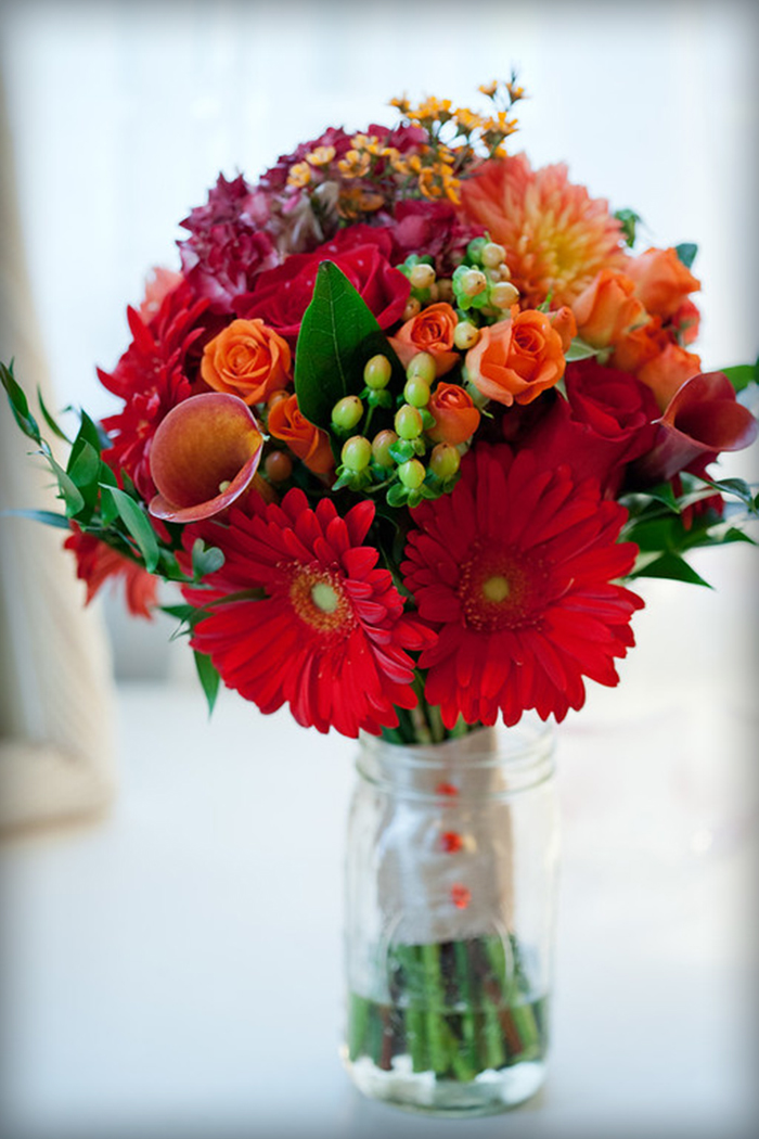 Red & orange bouquet