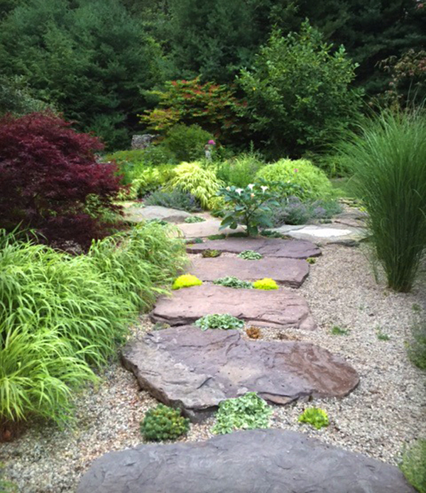 Grasses & stepping stones