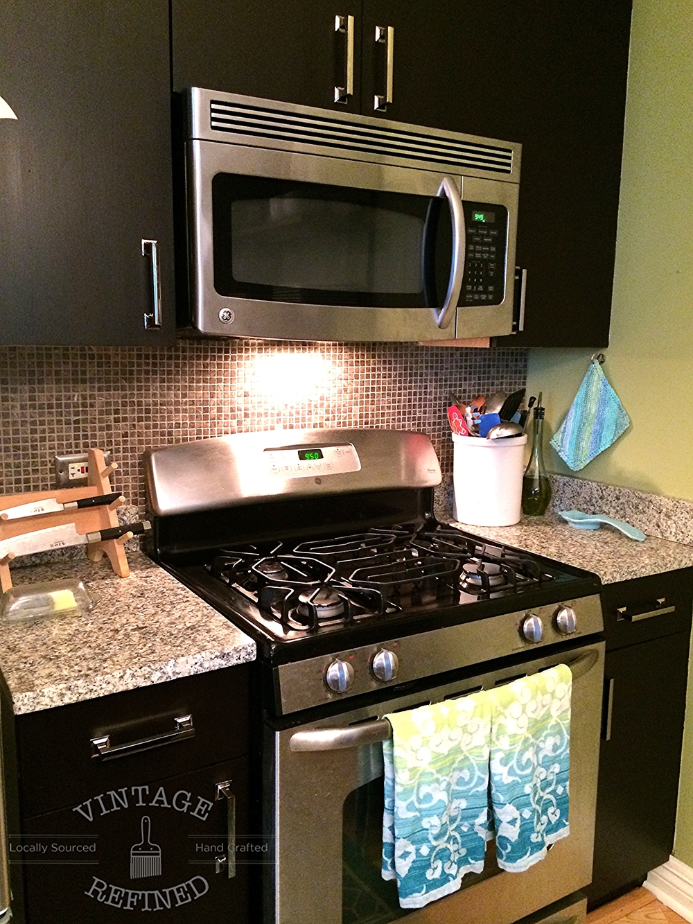 vintage refined gel staining kitchen cabinets