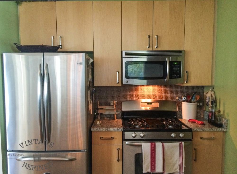 Gel staining kitchen cabinets vintage refined - Staining old kitchen cabinets ...