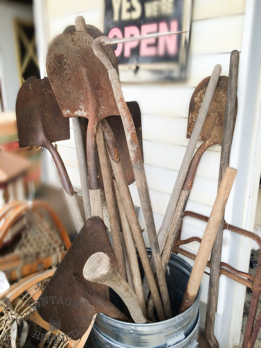 We found our fair share of vintage tools