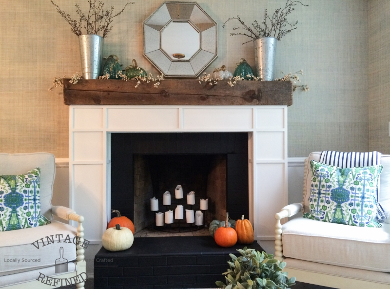 diy custom built fireplace mantel