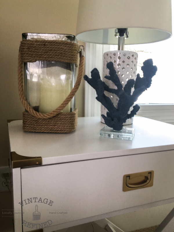 Nautical Bedroom. Although we call this bedroom the Nautical Bedroom  I didn t want to go over top in your face with nautical decor was going for more of a subtle Vintage Refined Makeover Reveal