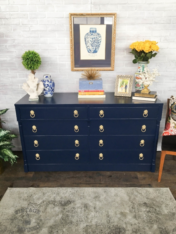 navy painted dresser